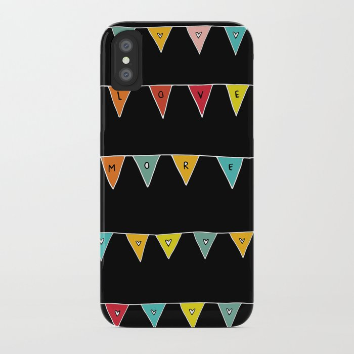 Love More (Black) iPhone Case