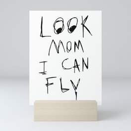 look mom i can fly Mini Art Print