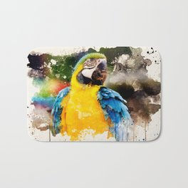 Deep Looking Macaw Bath Mat
