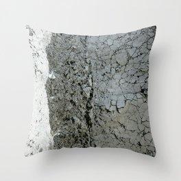 Grey Cement Throw Pillow