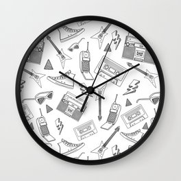 Livin in the 90s // Black & White Wall Clock
