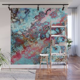 Colorful abstract marble II Wall Mural