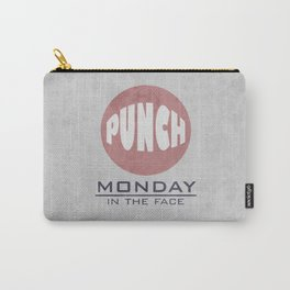 Punch Monday in the face - Red, Blue & Gray Carry-All Pouch