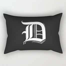 Letter D Rectangular Pillow