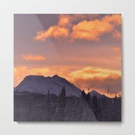 Flat Top Sunrise Metal Print