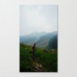 Finding fresh air Canvas Print