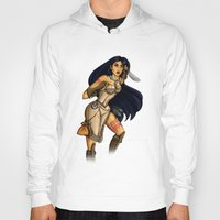 pocahontas Hoodies featuring Steampunk Pocahontas by Hungry Designs