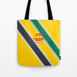 Ayrton Senna Stripes Logo Tote Bag