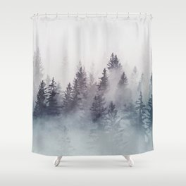 Winter Wonderland - Stormy weather Shower Curtain
