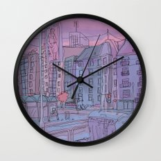 Budapest through pencil Wall Clock
