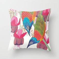 Love Birds: Sunbirds Throw Pillow