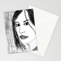THE UNKNOWN GIRL Stationery Cards