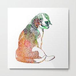 Watercolor Beagle Metal Print