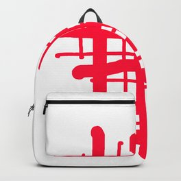 RED check Backpack