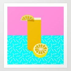 Lemonade /// www.pencilmeinstationery.com Art Print