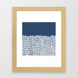 Half Knit Navy Framed Art Print
