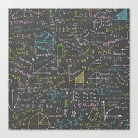 math Canvas Prints featuring Math Lessons by robyriker