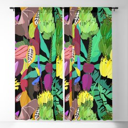 Tropical Fruit Bats in Night Black Blackout Curtain