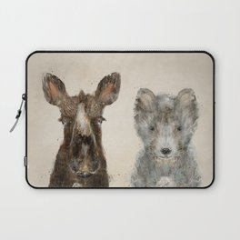 the little wolf and little moose Laptop Sleeve