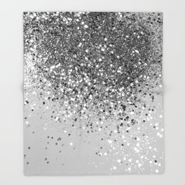 Soft Silver Gray Glitter #1 (Faux Glitter - Photography) #shiny #decor #art #society6 Throw Blanket
