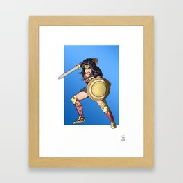 Queen of the amazons Framed Art Print