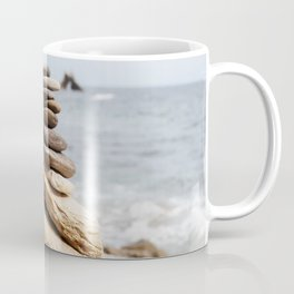 Natural Beach Rock Formation Coastline Yoga Earth Peace Zen Fine Art Print Coffee Mug