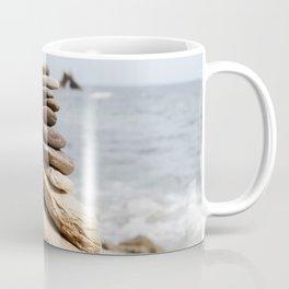 Natural Beach Rock Formation Coastline Yoga Earth Peace Zen Fine Art Print Coffee Mug