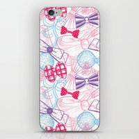 bows iPhone & iPod Skins featuring Bows by Wendy Ding: Illustration
