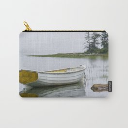 White Maine Boat on a Foggy Morning Carry-All Pouch