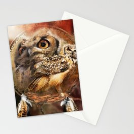 Owl Dreamcatcher Magic Word Stationery Cards