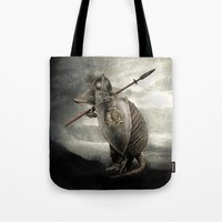eric fan Tote Bags featuring Armadillo by Eric Fan & Viviana González by Eric Fan