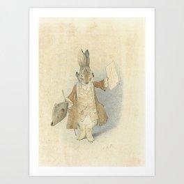 Town Crier Rabbit Art Print