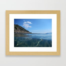 athens  Αθήνα sea Framed Art Print