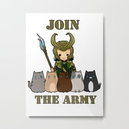 Cat Army Metal Print