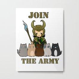 Cat Army Metal Print