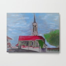 Kirche Schmatzhausen Niederbayern Metal Print