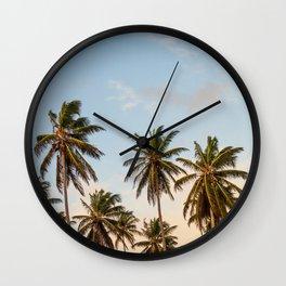 Sky beach palmier Wall Clock