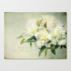 white and green Canvas Print