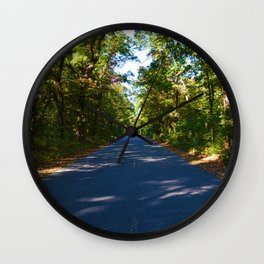 The road to Point Pelee National Park, Southern Ontario, Canada Wall Clock