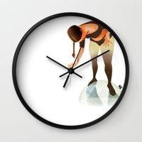bubble Wall Clocks featuring Bubble by Francesca D'Ottavi ArtPrints-Store