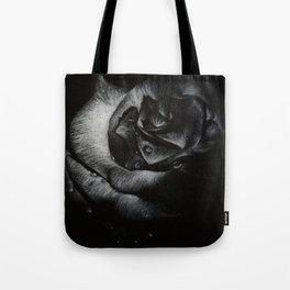 B&W Rose Drawing Tote Bag