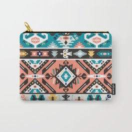 Tribal chic seamless colorful patterns Carry-All Pouch