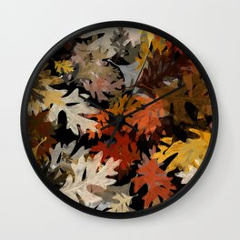 Oak Leaf Abstract Wall Clock