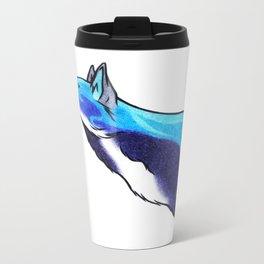 Water Wolf Metal Travel Mug