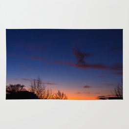 Sunset over the roofs Rug