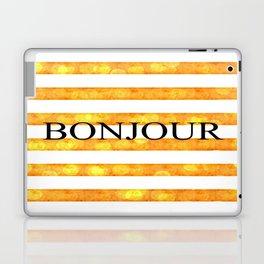Bonjour Orange Stripe Bokeh Laptop & iPad Skin
