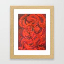 Fire Woman Framed Art Print