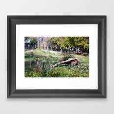 if only I could eat it. Framed Art Print