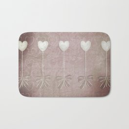 Lost love hearts in antique style Bath Mat