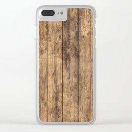 Grunge Wood Floor Pattern Clear iPhone Case